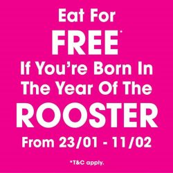 [Orchard Central] Good News to All Rooster Babies! Dine for FREE at Talay Kata (#08-04/05) if you are born in