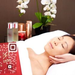 [SK-II Boutique Spa] Getting ready to glow for CNY? Visit www.mysk2spa.com/trial or scan the QR code for New Customer Promotion! #