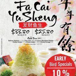 [SUSHI DELI] GONG XI FA CAI from Sushi Deli to all our Facebook fans!From 05-08 Jan 2017, flash this post