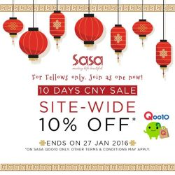 [Sasa Singapore] Are you ready to usher in the Lunar New Year? If not, fret not for Sasa is giving you your