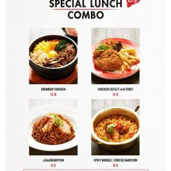 [Bonchon Singapore] Who doesn't love a good deal? Indulge in our special lunch combos 😎Available at both Bugis+ & Compass One outlets