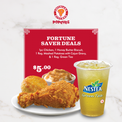 [Popeyes Louisiana Kitchen Singapore] In the midst of the Chinese New Year preparations, have a breather with this deal.