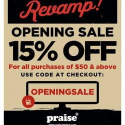 [Praise] Online Store Revamp! Beautifully designed for easier shopping experience! Shop now at www.praisemytee.com and get 15%OFF for