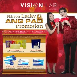 [Vision Lab] Celebrate this 2017 LUNAR NEW YEAR with Vision Lab Eyewear Lucky Ang Pao Promotion! Visit our retail outlets now before