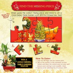 [Far East Flora] Caption: [Abundance of Joy Giveaway!] Simply guess the correct missing piece and stand to win a  Table Garden
