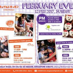 [Ippudo Express] Dear Customers,We will hold our first 2017 Child Kitchen Event on 12th February, Sunday in Singapore.If you are