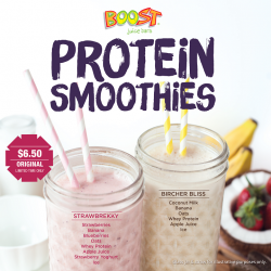 [Boost Juice Bars Singapore] Let's start 2017 with our delicious Protein Smoothies! Don't forget to try our TWO new smoothies, available for
