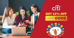 Lazada: Coupon Code for 12% OFF with Citi Credit Cards