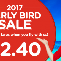 AirAsia: 2017 Early Bird Sale from SGD2.40 to Bangkok, Cebu, Penang, Semarang & More!