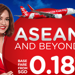 AirAsia: Fly to ASEAN & Beyond from Only SGD0.18!