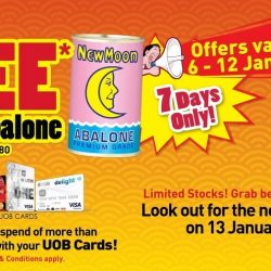 Giant: FREE Can of Abalone with Every Spend of $250 with UOB Cards
