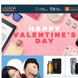 [Lazada] HAPPY VALENTINE'S DAY! Shop the sweetest gifts for your valentine NOW!
