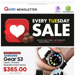 [Qoo10] SAMSUNG Brand Day - Gear S3 | Note 10.1 $169.90 FREE Shipping