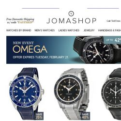 [Jomashop] Omega • Mido • Fossil • Breguet • Patek Philippe • A. Lange and Sohne • Nixon