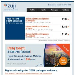 [Zuji] For you, BQ.sg! 3D2N Bangkok and more packages fr $146.