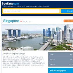 [Booking.com] Last-minute deals from S$ 46 in and around Singapore