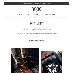 [Yoox] Hit List: 5 brands picked for you