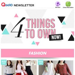 [Qoo10] Four things to own Now! Get it!