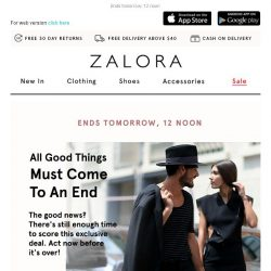 [Zalora] Hi, claim your exclusive gift before it disappears!