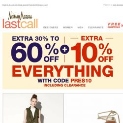[Last Call] Extra 10% on top of 30%–60% off >> Apparel to accessories, it's here!