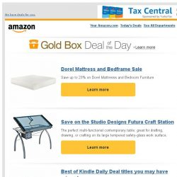 [Amazon] Dorel Mattress and Bedframe Sale
