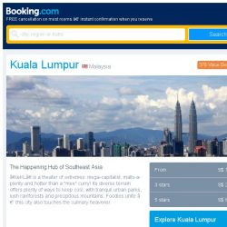 [Booking.com] Last-minute deals from S$ 12 in and around Kuala Lumpur