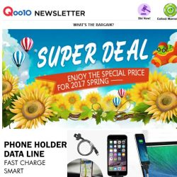[Qoo10] S$5.99 2 in 1 Phone Holder &Data Line☺Smart | Fast Charge