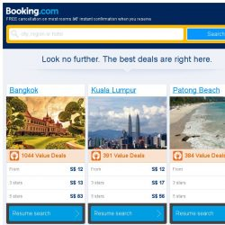 [Booking.com] Bangkok and Kuala Lumpur – great last-minute deals from S$ 12