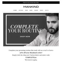 [Mankind] Complete your routine...