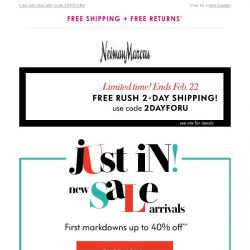 [Neiman Marcus] New markdowns up to 40% | Vince, Alice + Olivia, Elie Tahari