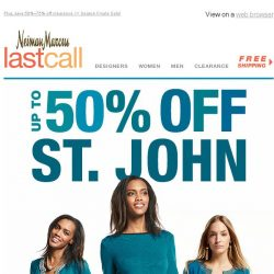 [Last Call] New & Now: St. John up to 50% off