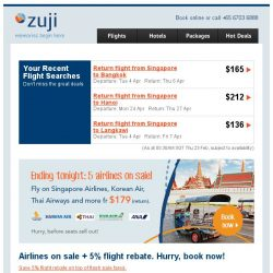 [Zuji] Ending today: Tokyo fr $370 + 5 airlines flash sale!