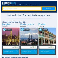 [Booking.com] Last-minute deals from S$ 19 in and around Bangkok