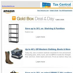 [Amazon] Save up to 30% on Shelving & Furniture