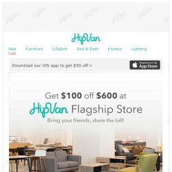 [HipVan] Come down & get $100!