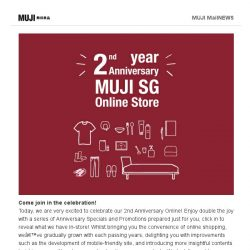 [Muji] MUJI SG Online Turns TWO!