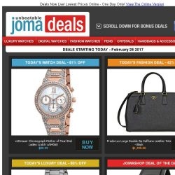 [Jomashop] Prada Leather Tote 42% off | Wittnauer Ladies Watch $90 | Glycine Auto 80% off | Movado Men's Watch $379 | Last Chance Deals from Valentino & Montblanc