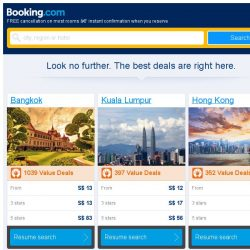 [Booking.com] Bangkok, Kuala Lumpur and Hong Kong -- great last-minute deals as low as S$ 12!
