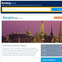 [Booking.com] Last-minute deals from S$ 13 in and around Bangkok