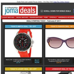[Jomashop] Nautica Men's Watch $40 | Armani Exchange $70 | Maurice Lacroix Chrono 82% off | Dior Sunglasses 61% off | Last Chance Deals from Jaeger Lecoultre & Tissot