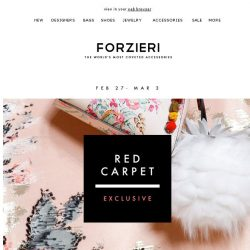 [Forzieri] Your $500 Red Carpet Exclusive