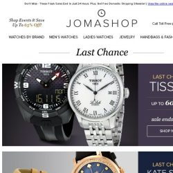 [Jomashop] LAST CHANCE: Jaeger-LeCoultre • Valentino • Montblanc • Tissot • Kate Spade