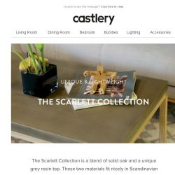 [Castlery] Slim and slender Scarlett Collection