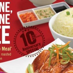 The Chicken Rice Shop: 10th Anniversary 1-for-1 Single Combo Meal Offer