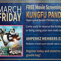 Century Square: FREE Movie Screening of Kung Fu Panda 3 on 3 March 2017!