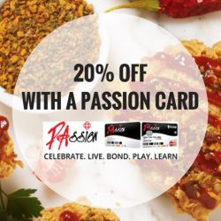 Popeyes: Enjoy 20% OFF with a PAssion Card!