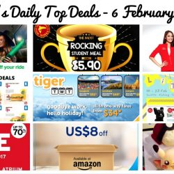 BQ's Daily Top Deals: $3 OFF GrabShare Rides, The Manhattan FISH MARKET Student Meals, 20% OFF AirAsia Flights, Tigerair's Sale Fares, USD8 OFF at Amazon & More!