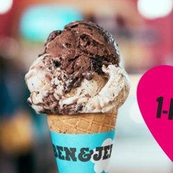 Ben & Jerry's: 1-for-1 Scoop at All Scoop Shops!