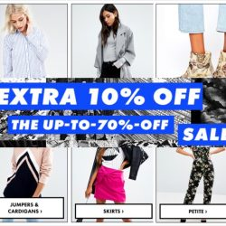 ASOS: Final Clearance Sale Up to 70% OFF + Additional 10% OFF with Coupon Code!