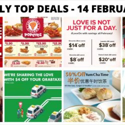 BQ's Daily Top Deals: Yamaha Clearance Sale, Popeyes Discount Coupons, Jetstar Vday Sale, 50% OFF at Canton Paradise, $4 OFF GrabTaxi Ride & More!